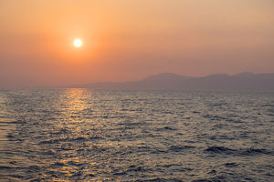 europe/greece/ionian sea sunset greece europe