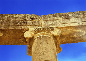 Ionic Coumn Oval Plaza Ancient Roman City Jerash Jordan