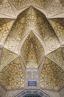 Iran, Central Iran, Esfahan, Jameh Mosque, interior detail