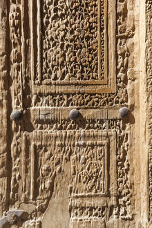 Iran, Central Iran, Natanz, Jameh Mosque, old door