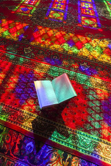 Iran, Central Iran, Shiraz, Nasir-al Molk Mosque, Holy Quran