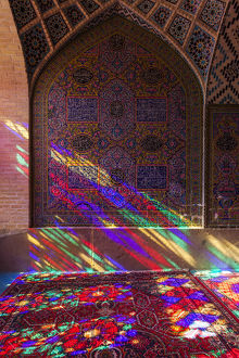Iran, Central Iran, Shiraz, Nasir-al Molk Mosque, interior