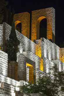 Iran, Central Iran, Shiraz, Quran Gateway walls, evening