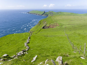 The island Mykines, part of the Faroe Islands in the North Atlantic