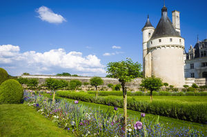 europe/marques tower garden chateau chenonceau chenonceaux