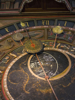 The medieval astronomic clock, the only one of its kind in good working condition