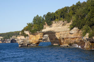 MI, Upper Peninsula, Pictured Rocks National Lakeshore, Lover's Leap