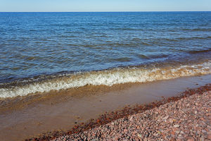 Michigan, Keweenaw Peninsula, Great Sand Bay, Lake Supeior and beach