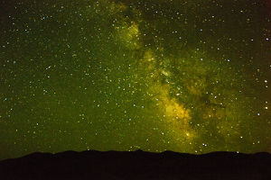 milky way, Painted Hills, John Day Fossil Beds National Monument, Mitchell, Oregon, USA