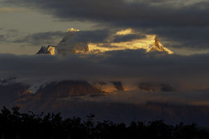 Mountain at sunrise, Torres del Paine National Park, Chile, Patagonia, South
