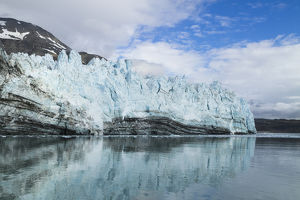 North America, Alaska, Glacier Bay. A close-in view of Margerie Glacier with lateral