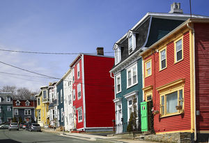 North America, Canada, Newfoundland, Colourful houeses in, St. John's NL