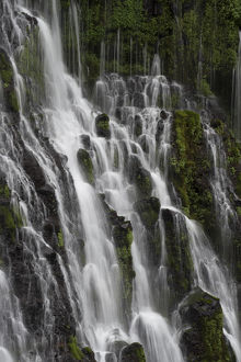 North America, USA, California. Detail of Burney Falls, McAurthur-Burney State Park