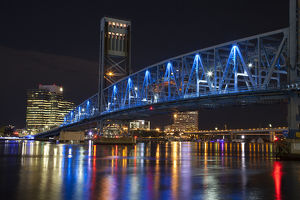 North America; USA; Florida; Jacksonville; The Main street Bridge also known as the