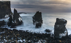 europe/iceland/north atllantic coast winter near reykjanesviti
