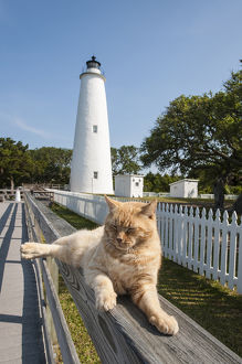 Ocracoke Island Light Station, Outer Banks, North Carolina, USA