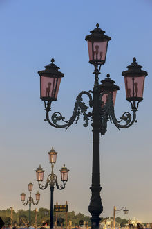 europe/italy/old lamp posts venice italy