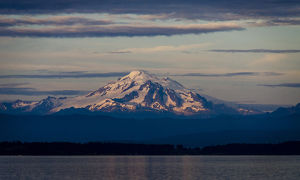 Orcas Island, USA - Mt. Baker and the Puget Sound