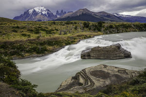 Paine Cascade, Torres del Paine National Park, Chile, Patagonia, South America