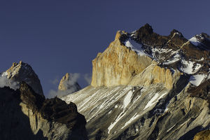 Paine Massif at sunset, Torres del Paine National Park, Chile, South AmericaPatagonia