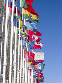Parque das Nacoes, Flags in the area of the 1998 worlds fair area at the banks of