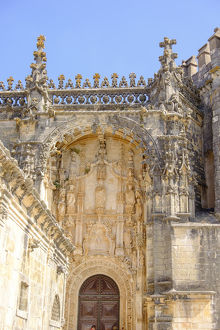 Portugal, Tomar.Tomar Castle, Knights of the Templar fortress, castle and convent