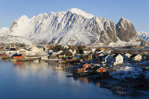 Reine village in winter, Lofoten Islands, Norway