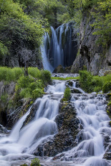 Roughlock Falls in Spearfish Canyon in the Black Hills National Forest, South Dakota, USA