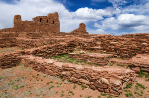 San Gregorio Church at Abo Ruins, Salinas Pueblo Missions National Monument., New Mexico