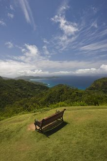 Seychelles, Mahe Island, Morne Seychellois National Park, view of the western coast