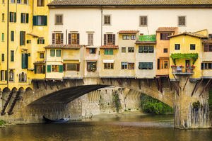 europe/italy/shop windows shutters ponte vecchio florence