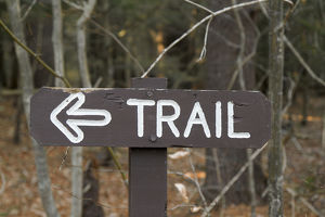 Sign in Mohawk Trail State Forest, Massachusetts, United States, North America