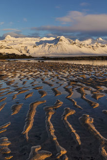 europe/snow capped mountain north atlanic shoreline snaefellsnes