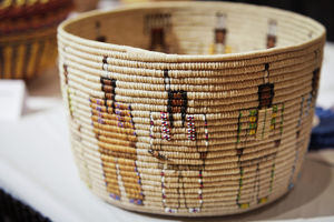 SSanta Fe, New Mexico, United States. Indian Market, Native American basket