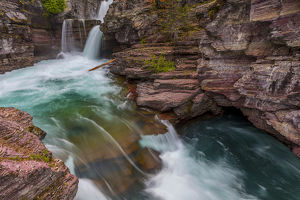 St Mary Falls in Glacier National Park, Montana, USA