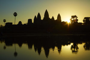 Sunrise over Angkor Wat, Angkor World Heritage Site, Siem Reap, Cambodia