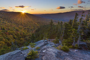 Sunset as seen from Dome Rock in New Hampshire's White Mountain National Forest