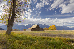 T.A. Moulton Barn, Mormon Row, Grand Teton National Park, Wyoming, USA