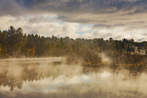 Tahquamenon River at sunrise, near Paradise, Michigan, Upper Peninsula of Michigan