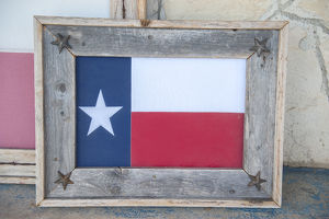 Texas state flag art, Wimberley, Texas, USA, For Editorial Use Only