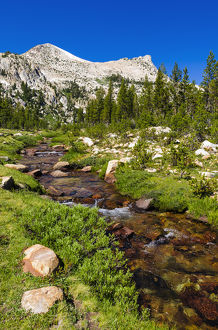 Unicorn Creek under Unicorn Peak, Tuolumne Meadows, Yosemite National Park, California