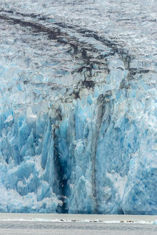 USA, Alaska, Endicott Arm. Close-up of Dawes Glacier