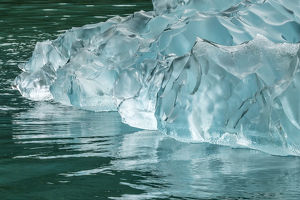 USA, Alaska, Endicott Arm. Detail of iceberg shapes