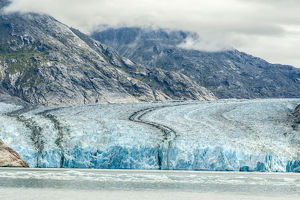 USA, Alaska, Endicott Arm. Overview of Dawes Glacier