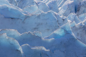 USA, Alaska, Portage Glacier. Close-up of glacier ice