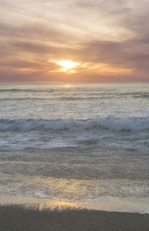 USA, CA, Point Reyes National Seashore, Point Reyes Beach Sunset
