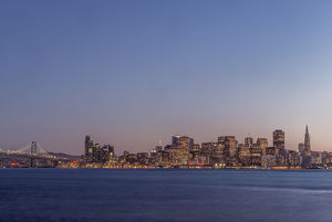 USA, CA, San Francisco, Downtown Skyline at Twilight