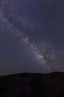 USA, California, Bishop. Milky Way over Sierra Nevada Range
