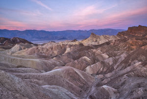 USA, California, Death Valley. Sunrise over Zabriskie Point