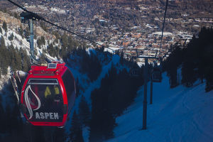 USA, Colorado, Aspen, Aspen Mountain Ski Area, Silver Queen Gondola